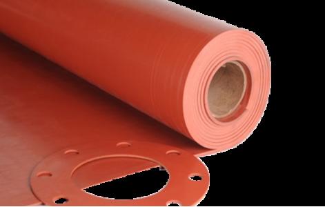 Lámina Caucho Natural Rojo